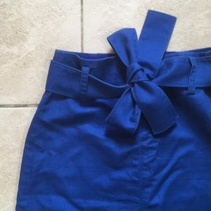 J.CREW Blue Belted Skirt!